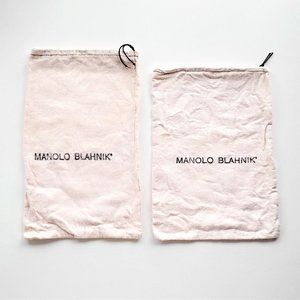Authentic MANOLO BLAHNIK Dustbags; Lot of 2